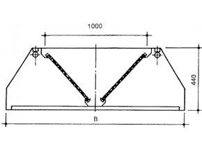 Závěsná digestoř, šířka 1200 mm